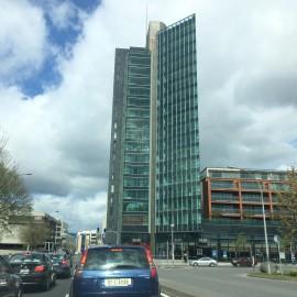 Cork, das 2005 Kulturstadt Europas war, geht mit der Zeit, Hochhäuser wie hier gehören ebenfalls zum Stadtbild.