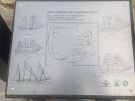 Auf Tafeln eingraviert: die früheren Handelsrouten der ibizensischen Schiffe.