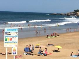 """La """"Grande Plage"""" ist der grösste und bekannteste Strand von Biarritz und bei Surfern sehr beliebt."""