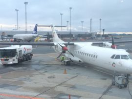... und und dient als Drehkreuz für SAS Scandinavian Airlines sowie Basis für Norwegian Air Shuttle und weitere Gesellschaften.