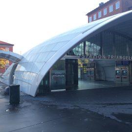 Die Station Triangeln Station eine Station vor dem Hauptbahnhof in Malmö wurde 2010 als Teil des neu gebauten Citytunnels eröffnet.