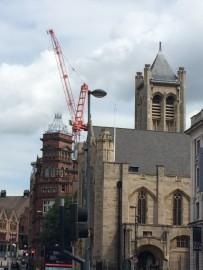 Für eine von Strassenverbreiterung musste die Kathedrale St. Annen im Jahr 1899 abgerissen werden. Teile der Ausstattung wurden in den Neubau übernommen. Dieser entstand wenige Meter vom alten Standort entfernt.