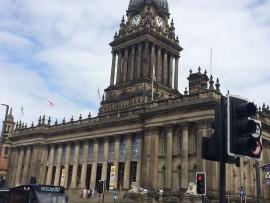 Leeds' eindrücklichstes Gebäude, die Town Hall, ist 69 Meter hoch und wurde 1858 eingeweiht.